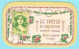 Carte Parfumée LE TREFLE D'IRLANDE MOUILLERON PARIS - OMEGA BAR PARIS - Advertising