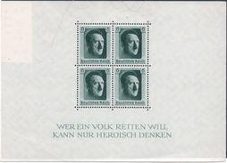 Allemagne : Bloc N° 8 Xx Année 1937 (legerement Froissé à Gauche Sur La Bordure Mais Timbres En Très Bon état, - Blocks & Kleinbögen