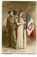 CPA Militaria : Gloire à L'ITALIE Avec Drapeau Postée à Verzenay    VOIR   DESCRIPTIF  §§§ - Guerre 1914-18