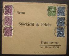 1922 Bel Affranchissement Multiple Bremen 187 +3 X 224 +3 X 228 ( Allemagne Deutschland) - Lettres & Documents
