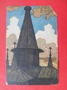 Russia 1904 BILIBINE, Church In VOLOGDA Region. Russian Postcard Red Cross Edition. - Bilibine