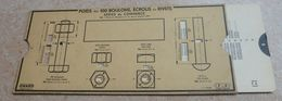 Règle à Calcul De 1948 - OMARO - Poids Des 100 Boulons Ou Écrous -  Série Des Chemins De Fer - Sonstige