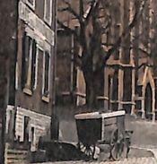Esneux - Mont Place De L'Eglise (colorisée, Edit. Bicheroux Soeurs, Attelage Chien Devant Café) - Esneux