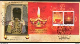 India 2017 Hindu Festival Of Lights Diwali Joints Issue With Canada M/s FDC Inde Indien - FDC