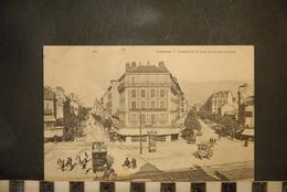 CP, 38, GRENOBLE (Isère),  Les Avenues De La Gare Et D'Alsace Lorraine Et Les Alpes - Tramway - Grenoble