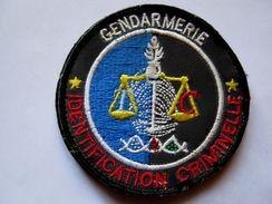 INSIGNE TISSUS PATCH DE LA GENDARMERIE NATIONALE IDENTIFICATION CRIMINELLE SUR VELCROS OCCASION MAIS BON ETAT - Police & Gendarmerie