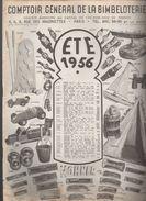 Paris : Catalogue COMPTOIR GENERAL De La BIMBELOTERIE (jouets) été 1956  (CAT 898) - Pubblicitari