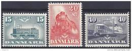 Dinamarca 0311/313 ** Trenes. 1947 - Neufs