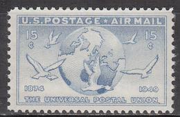 UNITED STATES   SCOTT NO. C43    MINT HINGED   YEAR  1949 - Luftpost