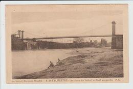 SAINT SYLVESTRE - LOT ET GARONNE - LES RIVES DU LOT ET LE PONT SUSPENDU - LAVANDIERES - France