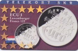 Télécarte Danoise : Série Monnaies ECU : Luxembourg - Timbres & Monnaies