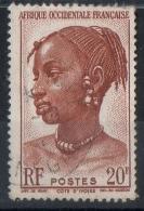 AOF  1947 -  Donna Agni Costa D'Avorio Woman Ivory Coast - Oblitérés