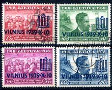 Litauen    Wiedervereinigung Und 20 Jahre Republik  Mi.  433-436 + 425-428 + 428 All Used/o Selten Kompl.  Siehe Bild - Litauen