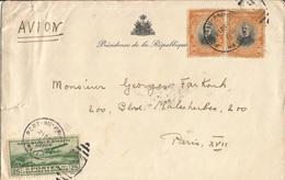 Enveloppe  Présidence  De  La  République  D ' HAÏTI  Expédiée  à  PARIS  Par Avion En 1938 - Haiti