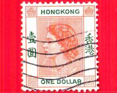 HONG KONG - Usato - 1954 - Regina Elisabetta II (1954-1960) - One Dollar - 1 - Usati