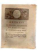 Extrait Du Registre Aux Arrêtés Du Directoire Du Département De La SOMME.12 Pp.13 Décembre 1791.CARON Imp.AMIENS. - Picardie - Nord-Pas-de-Calais