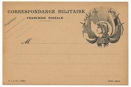 Carte De Franchise Militaire Edition Privée - Marianne Et 6 Drapeaux - 1914/18 Paris - Military Service Stampless