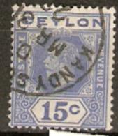 Ceylon 1912 SG 311a  15c Fine Used - Ceylan (...-1947)