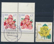 DDR 1972 Mi. 1778 Paar OR Und UR + Mi. 1779 Gest. Rosen Rosenausstellung Erfurt - [6] République Démocratique