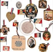 WW1- JOURNÉE DU POILU - Ensemble De 17 Badges Originaux - Documents Historiques