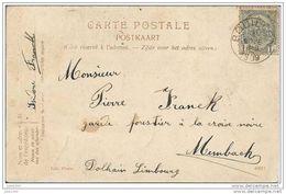 MEMBACH ..-- BOUILLON ..-- La Chambrée . 1909 Vers MEMBACH ( Mr Pierre FRANCK ) . Voir Verso . - Baelen