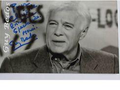 Acteur Humoriste - Guy BEDOS - Signé / Hand Signed / Dédicace Authentique / Autographe - Artistes