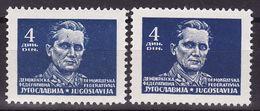 Yugoslavia 1945  Mi 477 X,y, MNH** - 1945-1992 République Fédérative Populaire De Yougoslavie