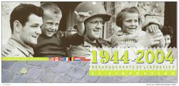 """FRANCE 2004 : Souvenir Philatélique 1er Jour """"  LA LIBERATION """" N° YT 3675. FDC - 2. Weltkrieg"""