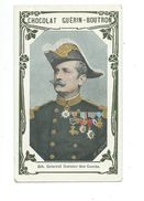 Général Garnier Des Garets Armée Française  Chromo Bien/TB 103 X 62 Mm  Pub:Guérin-Boutron - Guérin-Boutron