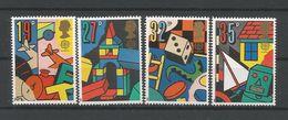 U.K. 1989 Europa Games & Toys Y.T. 1380/1383 ** - Unused Stamps