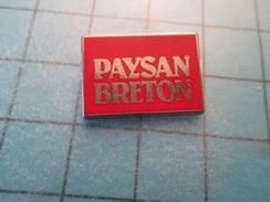 Pin412d Pin's Pins / Beau Et Rare : PAYSAN BRETON BEURRE INDUSTRIEL LEGUMES AUX PHOSPHATES Marquage Au Dos : - ---  - - Alimentation