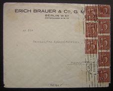 1922 161x 9 Erich Brauer Berlin Affranchissement à 200 Mark (Allemagne) - Lettres & Documents