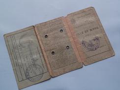 CARTE D'IDENTITE ( Hauvarlet ? 1919 ) KAART VAN EENZELVIGHEID - Ville De MONS N° 13793 - Anno 1939 ( Detail Zie Foto ) ! - Unclassified