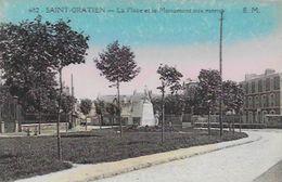 CPA De SAINT-GRATIEN     La Place Et Le Monument Aux Morts - Saint Gratien