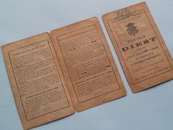CARTE D'IDENTITE ( Van Even Caggevinne 1905 ) KAART VAN EENZELVIGHEID - Stad DIEST N° 15060 - Anno 1934 ! - Documentos Antiguos