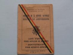 IDENTITEITSKAART Voor Reserve Officier ( Schiets Jan / Onderluitenant ) Geb. Mechelen 1929 ! - Documenten