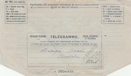 Télégramme 1946 Avec Cachet Téléphone Au Recto Et Vienne Isère Au Verso - Telegraaf-en Telefoonzegels