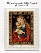 PIA  - AUSTRIA  - 1989 : 25° Anniversario Della Diocesi Di Innsbruck - Madonna : Dipinto Di Lucas Cranach - (Yv 1773) - Madonne
