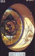 Télécarte  Japon * EGLISE * CHURCH * ART *  * KUNST (121) RELIGION VITRAIL * STAINED GLASS * JAPAN PHONECARD - Schilderijen