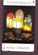 Télécarte  Japon * EGLISE * CHURCH * ART *  * KUNST (122) RELIGION VITRAIL * STAINED GLASS * JAPAN PHONECARD - Schilderijen