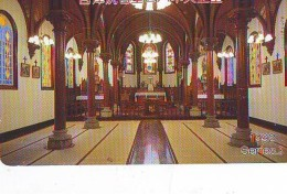 Télécarte  Japon * EGLISE * CHURCH * ART *  * KUNST (127) RELIGION VITRAIL * STAINED GLASS * JAPAN PHONECARD - Pintura