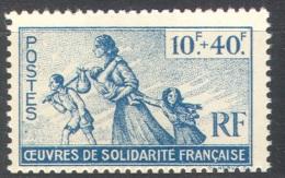 3135 War WW2 WWII Resistance Exile Algier Refugees 1943 France 1v Set MNH ** - Liberation