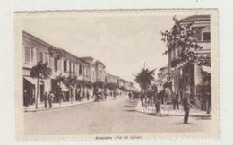AVEZZANO (ABRUZZO) - VIA DEL LITTORIO CON MACCHINA D'EPOCA - BICICLETTA E ANIMATA - VIAGGIATA 1937 - POSTCARD - L'Aquila