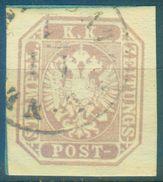 Nr. 29 X Zeitungsmarke 1863 Briefstück - Schöne Marke - Gebraucht