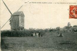LA FERTE SAINT AUBIN - La Vue Générale De St Aubin Promenade En Famille Près Du Moulin à Vent - La Ferte Saint Aubin