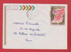 Congo / Enveloppe / De Brazzaville  / Pour Toulouse / 28-01-1974 - République Démocratique Du Congo (1964-71)