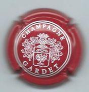 Champagne GARDET - Rode Kroonkurk - Witte Letters - Heraldisch Schild - Champagne