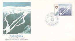 Yugoslavia 1983 Sarajevo Winter Olympics, Souvenir Cover, Slalom Skiing - Winter 1984: Sarajevo