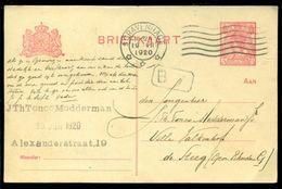 Nederland 1920 Briefkaart Voorgefrankeerd Met 5 Cent - Postal Stationery