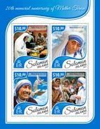 Solomon Islands. 2017 20th Memorial Anniversary Of Mother Teresa. (416a) - Mother Teresa